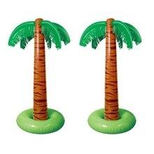 90cm inflable palmera Tropical piscina decoración de fiesta de playa juguete al aire libre suministros Q6PD