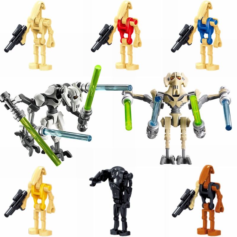Starwars Figures Set Baby Yoda Battle Droid General Grievous Star Wars Movie Assemble Building Blocks Toys for Children Boy Gift