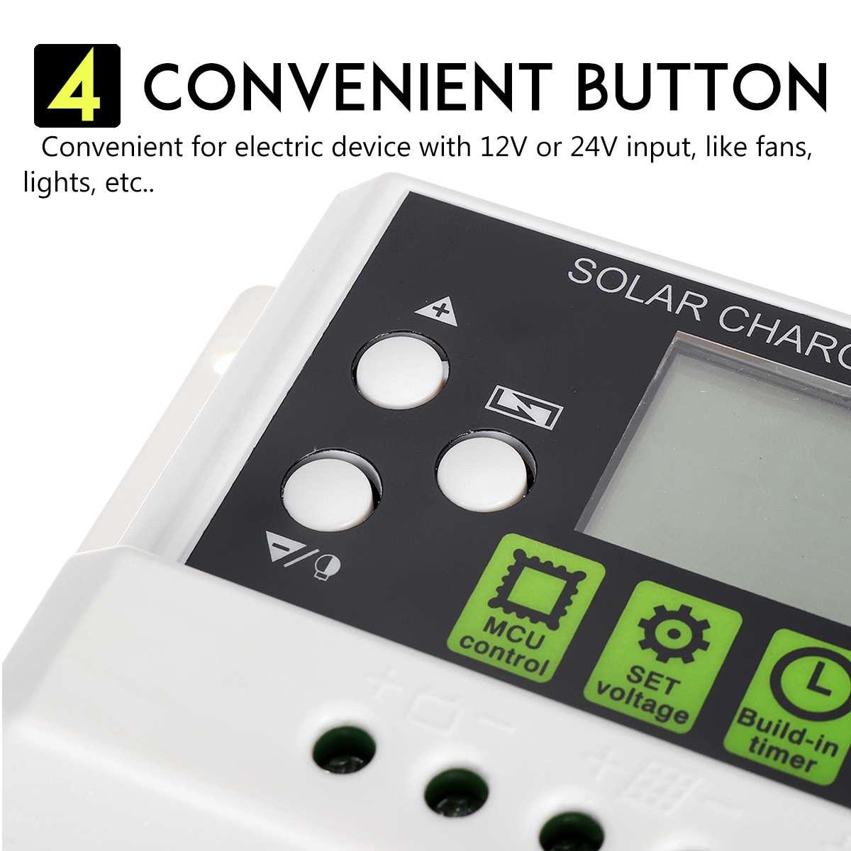 10a 12v 24v controlador de carga solar