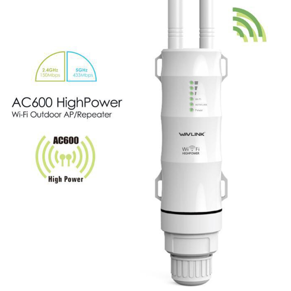 Купить с кэшбэком AC600 High Power Outdoor WIFI Router/Access Point/CPE/WISP Wireless wifi Repeater Dual Dand 2.4/5Ghz 12dBi Antenna POE