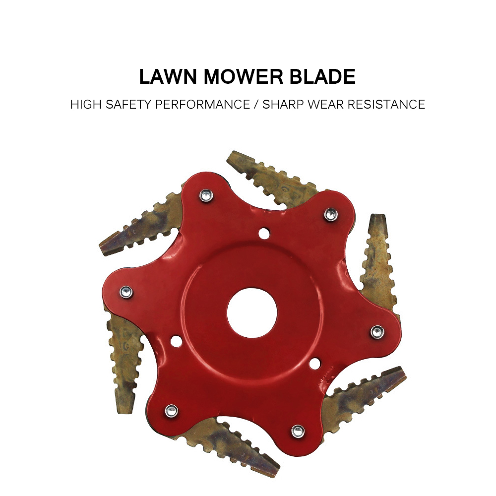Rotatable Sawtooth Lawn Mower Blade Brush Cutter Accessories Garden Grass Trimmer Blades Double-Sided Cutting Edge