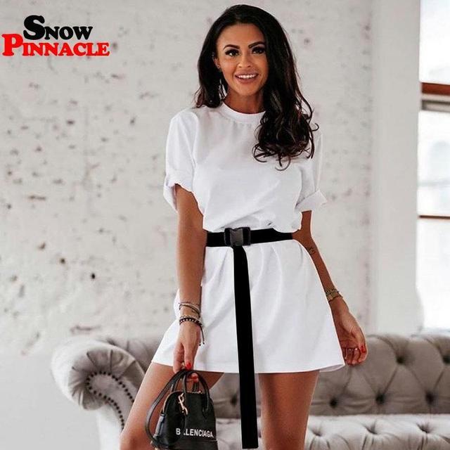 Fashion summer dresses including belt