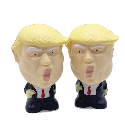 Cute Donald Trump Stress Squeeze Ball Jumbo Squishy Anti Toy Cool Novelty Pressure Relief Kids Doll Decor Squeeze Fun Joke Toys