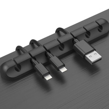 Onvian Cable Organizer Silicone USB Holder Flexible Winder Management Clips For Mouse Headphone Earphone Keyboard