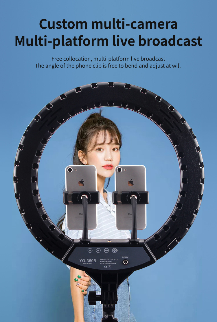 """Hf6398a8ff7d6488da67e8901863c70a5h 14"""" LED Ring Light Photographic Selfie Ring Lighting with Stand for Smartphone Youtube Makeup Video Studio Tripod Ring Light"""