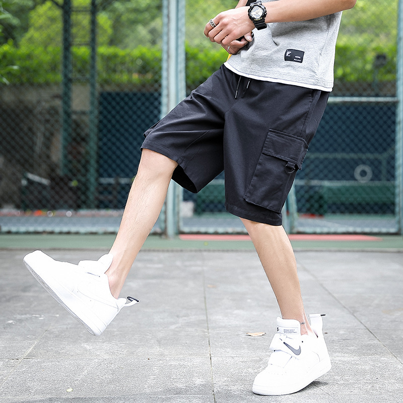 2019 New Style Workwear Shorts Men Summer INS Popular Brand Loose-Fit Bermuda Shorts Thin Fifth Pants Trend