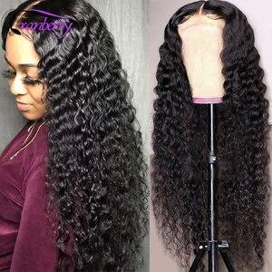 Парики из натуральных волос на 360 градусов С ВОЛНИСТЫМ кружевом Remy перуанские человеческие волосы с глубоким волнистым кружевом для женщин ...