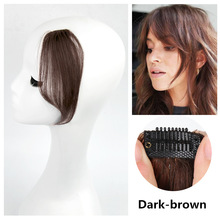Side Layered Bangs Straight Hair with Long Clip on Bangs Human Hair Bangs Human Hair Clip In Bangs Remy Human Hair Bang Clip In