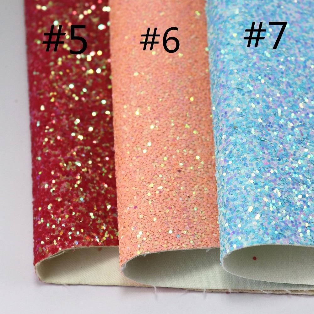 Light Blue Bliss Chunky Glitter Canvas Sheet Light Blue BlueGlitter Canvas Bundle Chunky Glitter Sheet Bow Fabric Jewelry Fabric