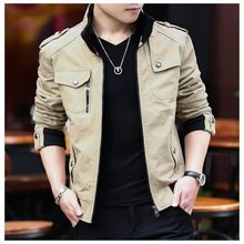 Top Quality New Mens Stand Collar Thicken Coats Fashion Man Military Pockets Zip Jackets Boys Male Warm Fur Lining Casual Jacket(China)