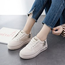 Women Fashion Vulcanized Tenis Feminino Zapatos De Mujer Slimming White Sneakers Casual Breathable Summer Shoes Woman C0069