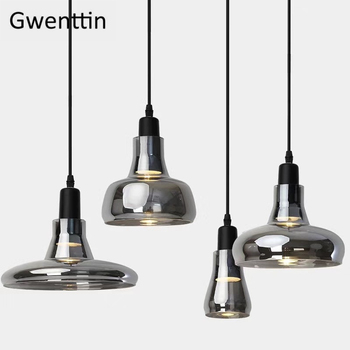 Vintage Smoke Glass Pendant Lights Loft Industrial Hanging Lamp Suspension Luminaire for Living Room Bedroom Kitchen Home Decor цена 2017