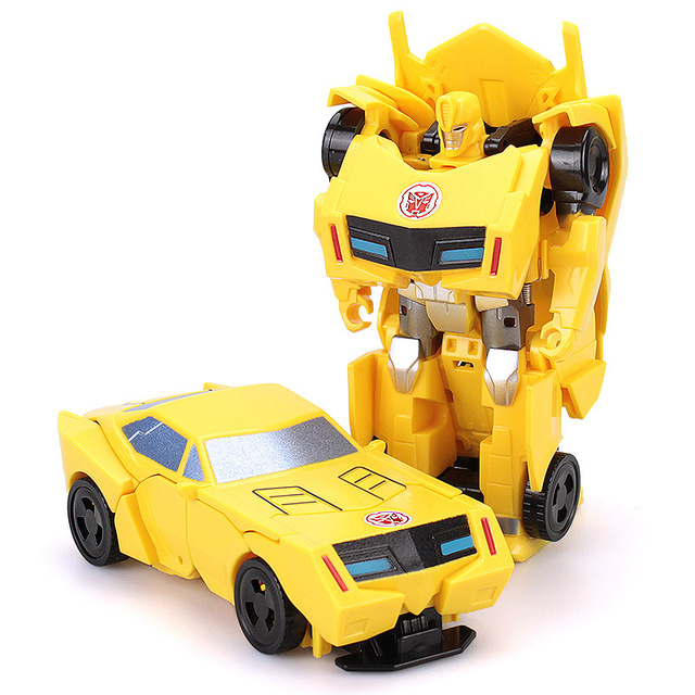 Children 12cm Transformation Robot Kit Toys Models 2 in 1 one Step  Model Deformed Car Toy for Boy Gift 3