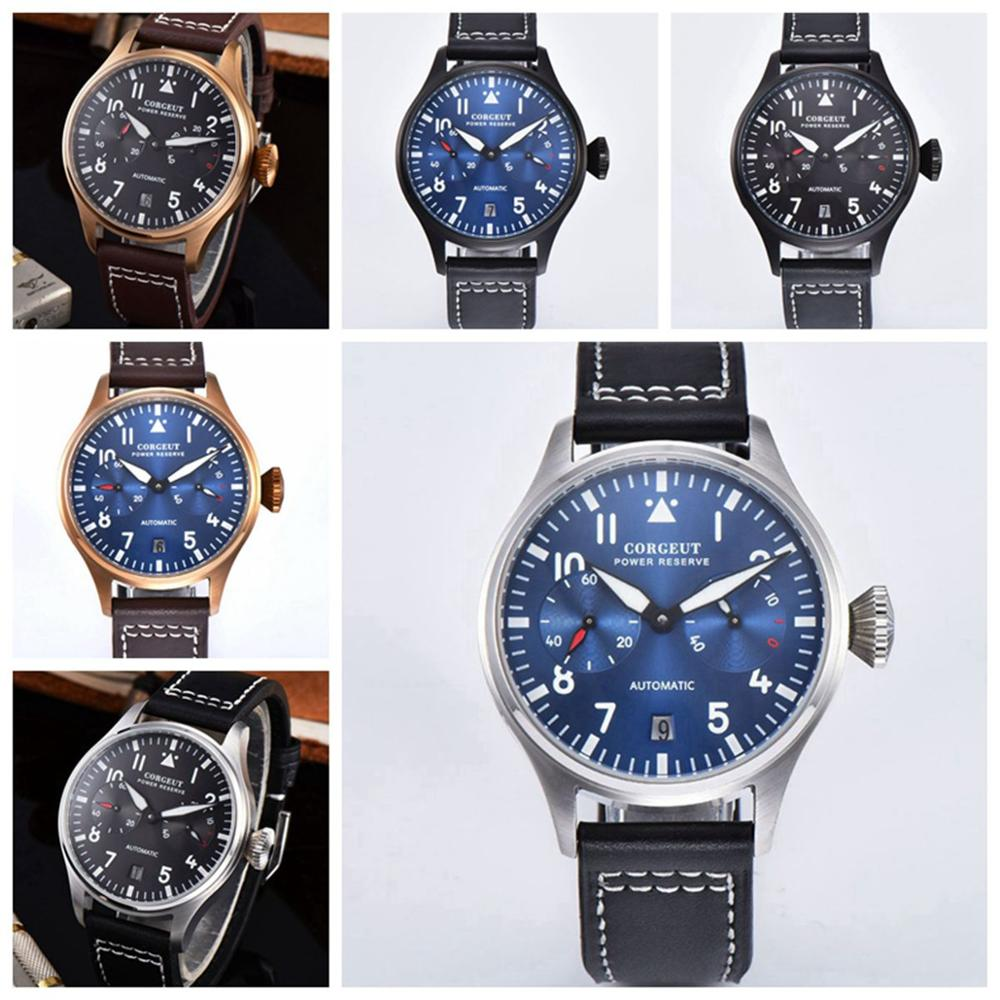 Automatic Mechanical Watches Sport Luxury Brand Men's Watches power reserve luminous date man Wrist watch Male Clock8