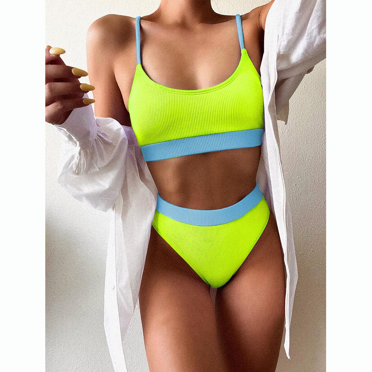 B178W03-Swimsuit Sexy Bikini Women Patchwork Swimwear
