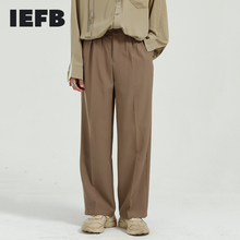 Pants Clothing Korean-Trend Straight New Wide IEFB for Male 9Y5844 Leg-Suit Loose Men's