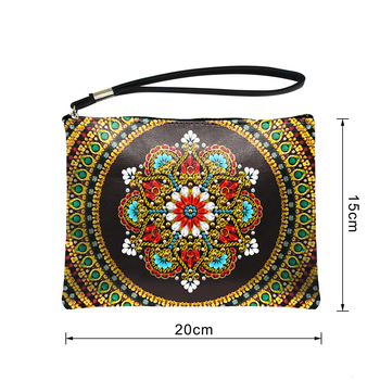 HUACAN 5D DIY Diamond Painting Wallet Women Mandala Diamond Embroidery Art Kits Special Shaped