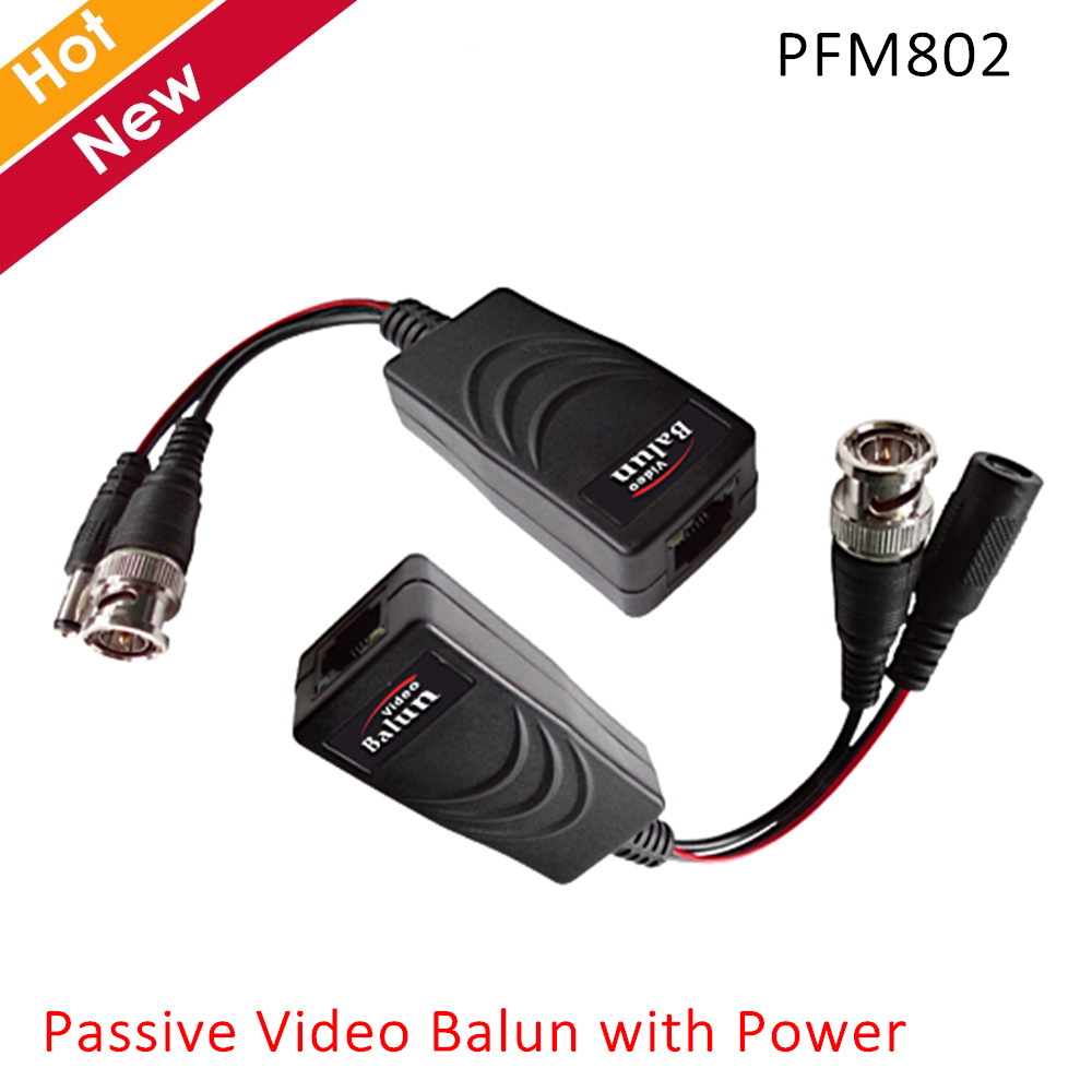 Dahua PFM802 Passive Video Balun With Power Compatible Format HDCVI TVI AHD CVBS For CCTV Accessory