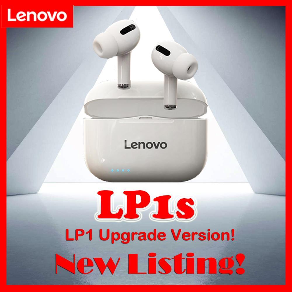 Lenovo LP1s Nueva inclusión, LP1 nueva versión mejorada, calidad de sonido mejorada, Auriculares Bluetooth inalámbrico verdadero para iOS/Android|Auriculares y audífonos|   - AliExpress