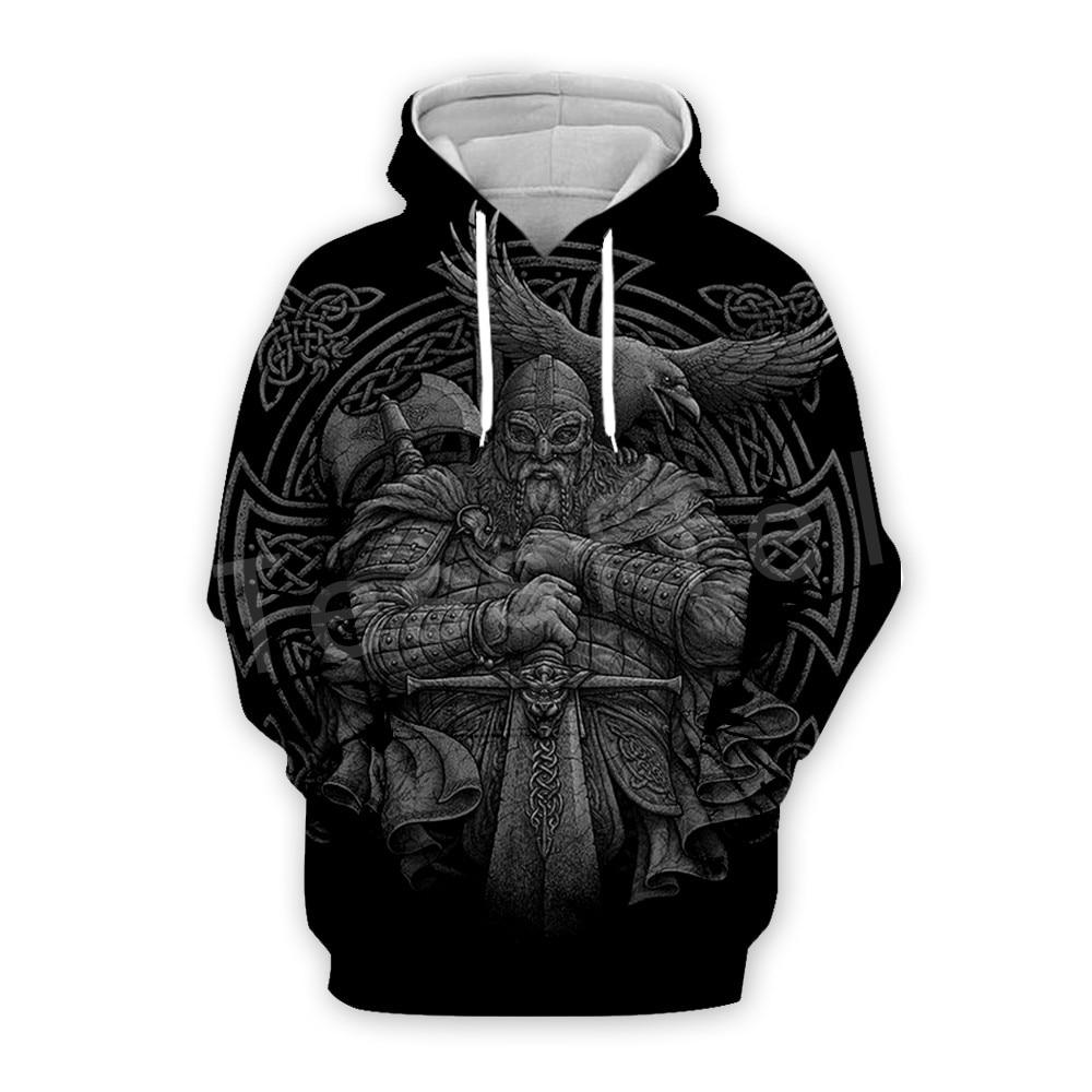 Tessffel Unisex Viking Tattoo Viking Warriors Tracksuit NewFashion Casual MenWomen 3DPrint Sweatshirts/Hoodie/Jacket S-5