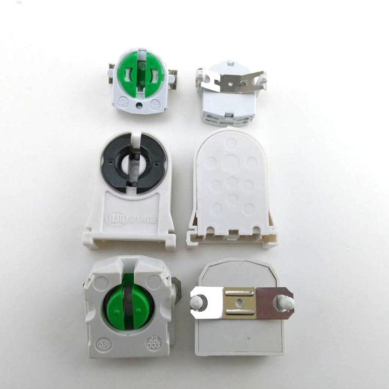 T8 G13 Lamp Holder Converter AC100-250V T4 T5 Tube Base Fluorescent LED Foot Light Socket Snap In Fitting Accessory