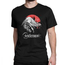 Castlevania T-Shirt Men Vampires Horror Hunting 70s 80s Video Game Anime Funny Cotton Tees Short Sleeve T Shirts Gift Idea