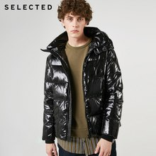 SELECTED 남성용 광택 쇼트 다운 재킷 New Hooded Parka Duck Down Coat 겨울 캐주얼 남성 의류 C | 419112507(China)