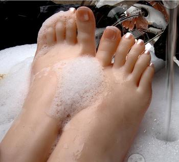 Mannequins Shoes Socks Model Size 36 Art 1pc Full Silicone Female Legs Feet