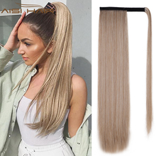 Hair-Extension Ponytail Fake-Hair Blonde Straight-Wrap Heat-Resistant Clip-In Black Synthetic