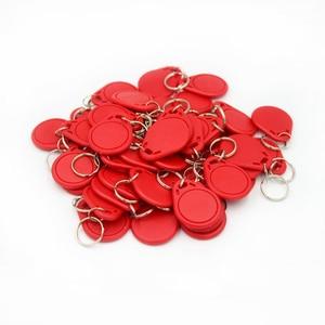 Image 5 - 100pc/lot 125khz RFID Keychain NO3 ID Keyfob RFID Tag TK4100 Access Control Card Sticker Key Fob Ring Proximity