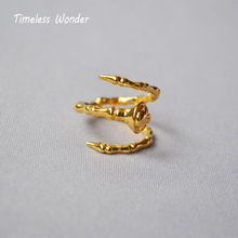 Timeless Wonder Vintage Jewelry Brass Punk Claw Skull Twist Ring Women Party Cocktail Anillos Mujer Gothic Boho Ins 2369