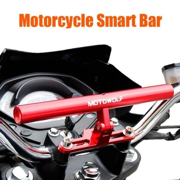 5 Цвета мотоцикл смарт-бар телефонных звонках и сообщениях лампы крепление база мотоциклетные запасные части Экстра бар зажим аксессуары для мотоциклов