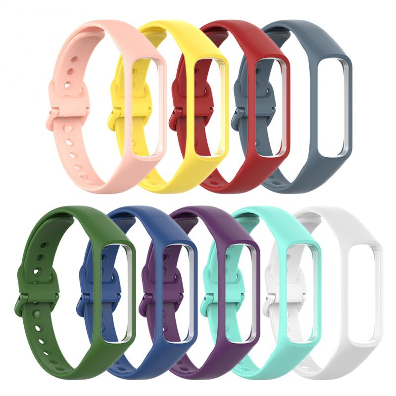 Silicone Watch Band For Samsung Galaxy Fit-E SM-R375 Quick Release Bracelet For Samsung SM-R375 Sport Soft Strap