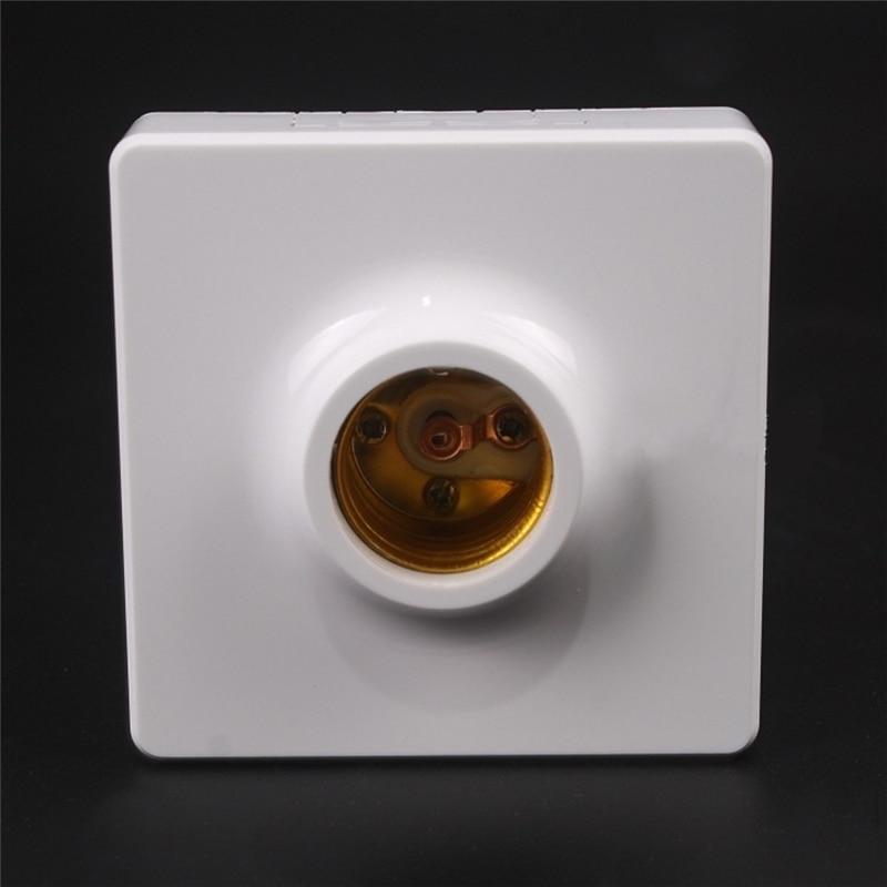 AC250V 10A Surface Mounted Square E27 Light Socket Bulb Adapter Lamp Holder Conversion for LED Converter Lighting Accessory
