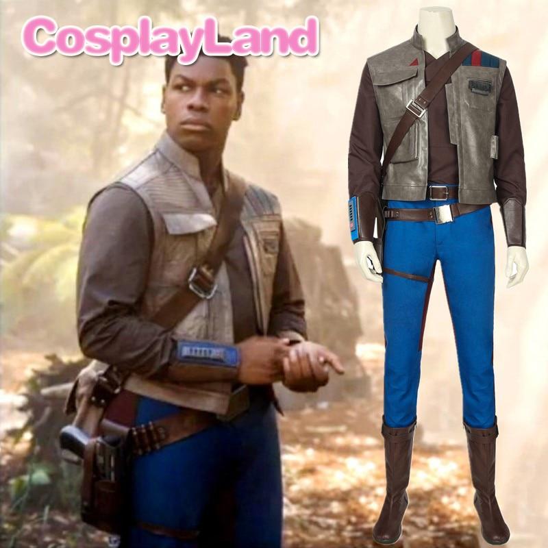 Star Wars The Rise Of Skywalker Finn Costume Adult Halloween Superhero Costumes Last Jedi Fighter Pilot Coplay Custom Made Movie Tv Costumes Aliexpress