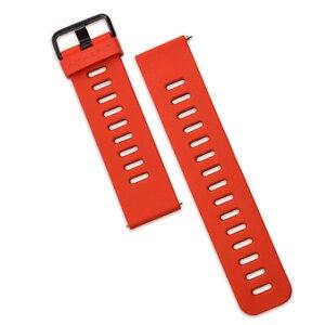 Image 4 - Bracelet de montre Original 22mm (largeur) Bracelet en silice pour Xiaomi Huami Amazfit GTR (47mm) Pace Stratos série
