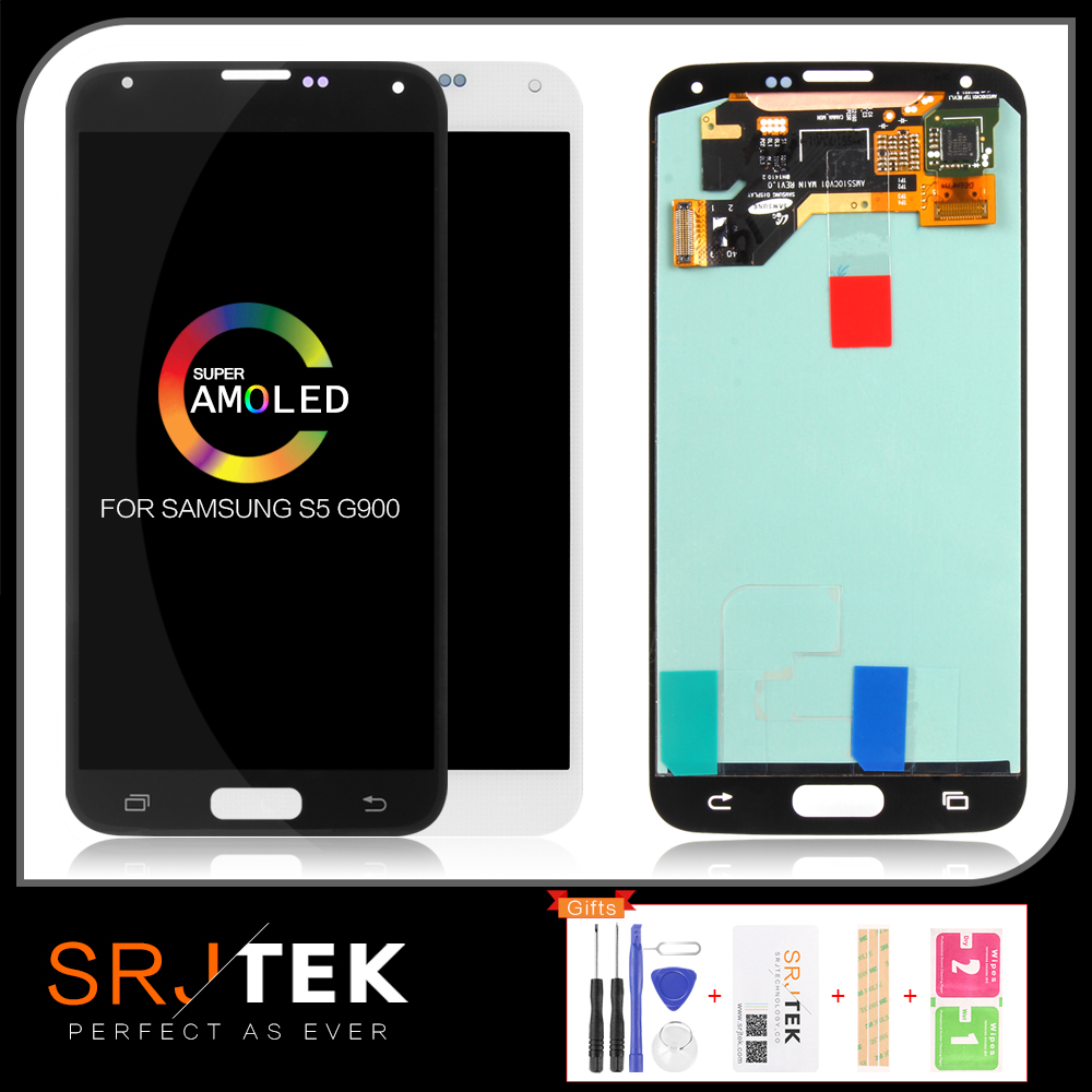 Warranty 5.1'' <font><b>Super</b></font> <font><b>AMOLED</b></font> LCD for <font><b>SAMSUNG</b></font> Galaxy <font><b>S5</b></font> LCD <font><b>Display</b></font> i9600 G900 G900F G900M G900H SM-G900F Touch Screen Digitizer image