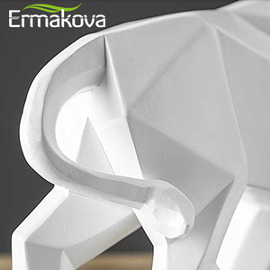 Image 5 - ERMAKOVA שרף שור פסל ביזון פיסול קישוט מופשט בעלי החיים צלמית שולחן חדר עיצוב הבית מתנה