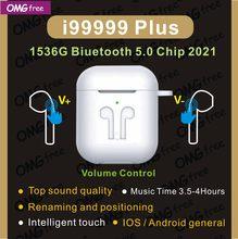 Novo i99999 plus tws fone de ouvido sem fio bluetooth 5.0 controle volume super bass pk i90000pro i90000max tws