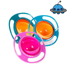 Feeding-Dishes Training-Bowl Practical-Design Rotate-Spill-Proof Universal Baby Children