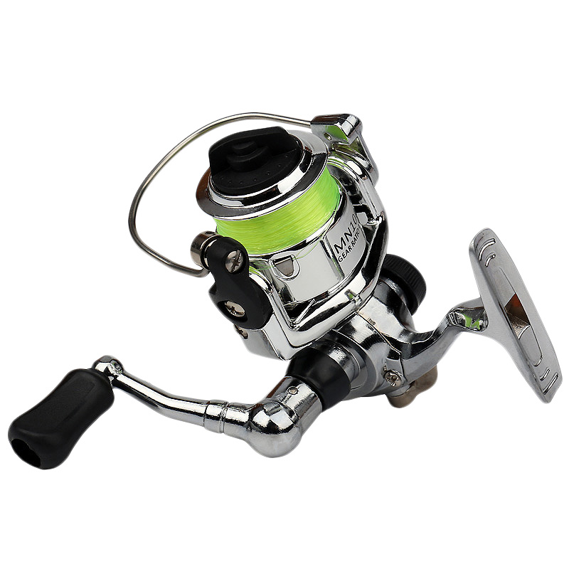 ABUO-Mini 100 Pocket Spinning Fishing Reel Fishing Tackle Small Spinning Reel 4.3:1 Metal Wheel Pesca Small Reel
