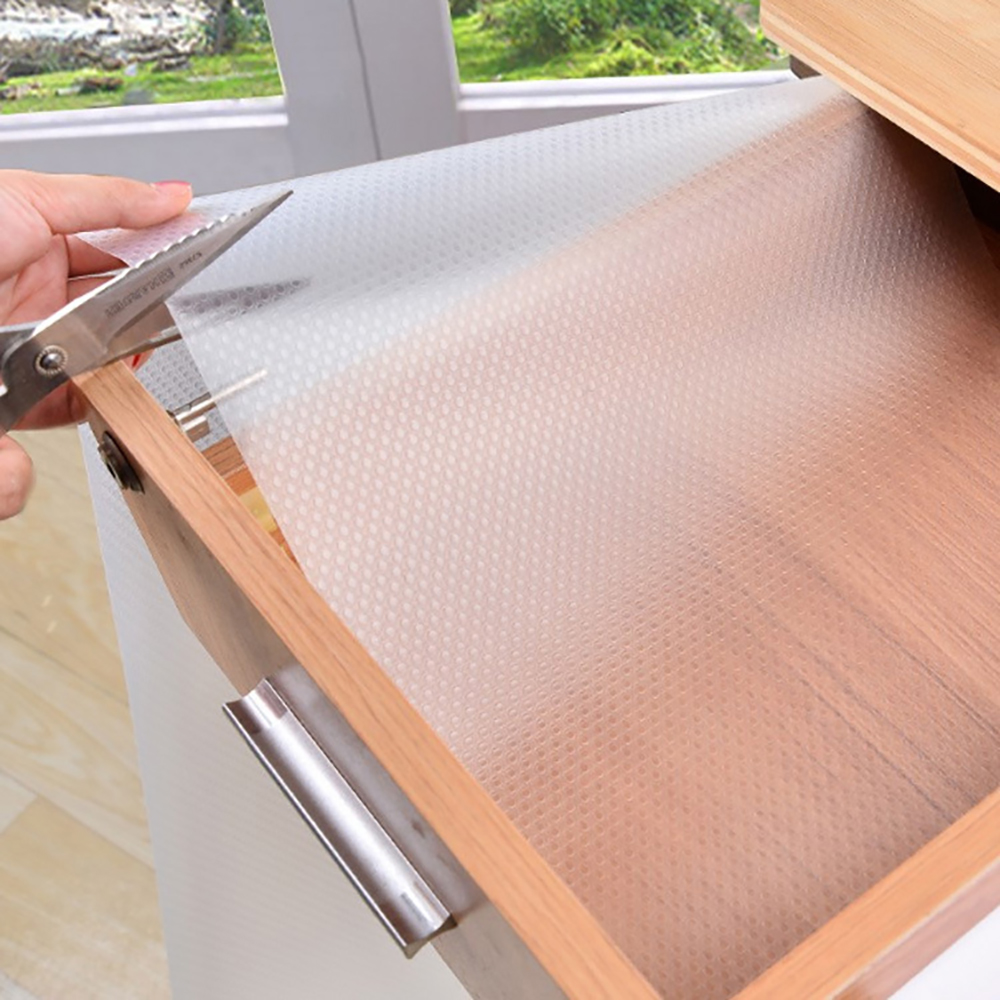 Anti-Slipping Drawer Mat Shelf Cabinet Waterproof Oil-Proof Table Cover Mat Non Adhesive For Kitchen Cupboard Refrigerator New