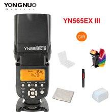 Yongnuo yn565ex iii flash de reciclagem sem fio, sistema de reciclagem de alta velocidade ttl slave, flash speedlite gn58, suporte à atualização de firmware usb para canon