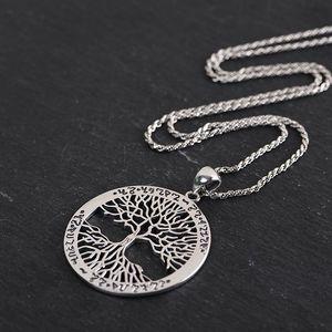 Image 4 - BALMORA 100% prawdziwe 925 Sterling Silver gorące drzewo życia okrągły mały wisiorek i naszyjnik Bijoux kobiety mężczyźni biżuteria spadek wysyłka