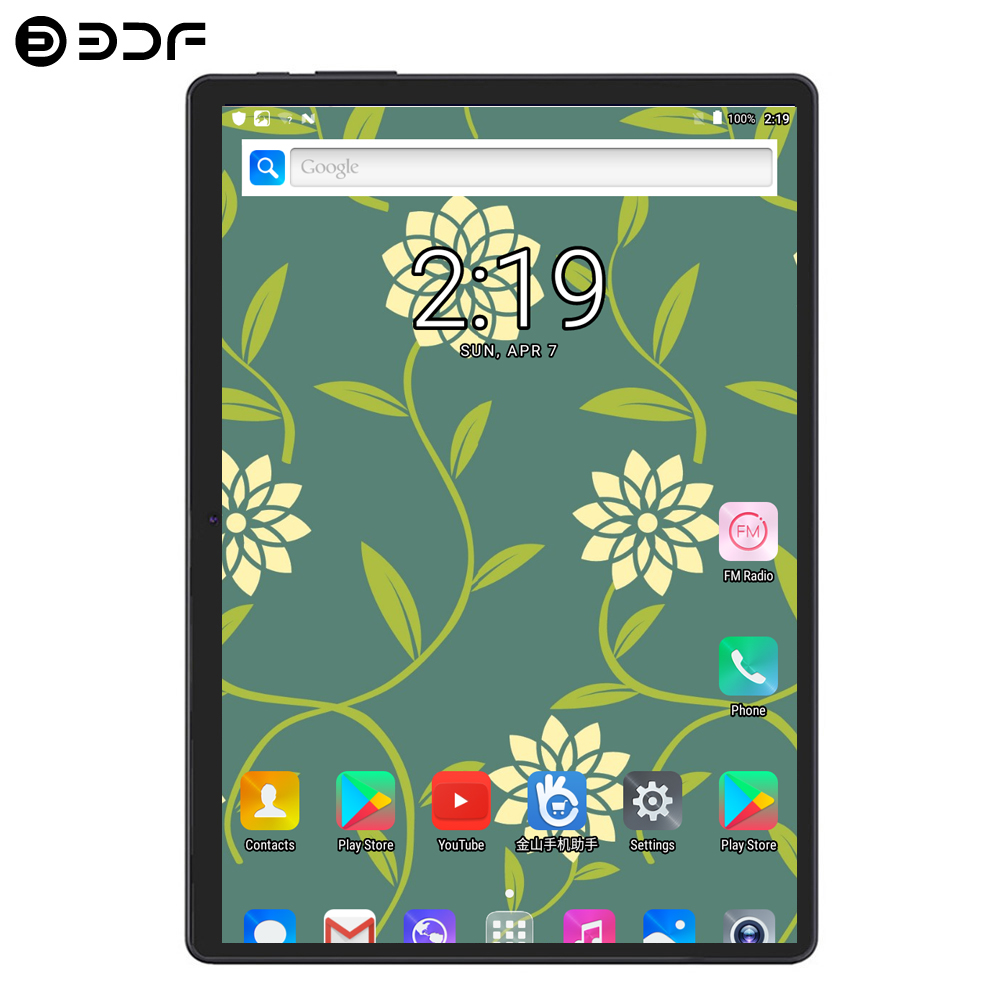 BDF Hot Sale 2019 New Tablet10 Inch 3G 4G LTE Tablet Pc Android 7.0 Octa Core 4GB RAM 64GB ROM WiFi 10.1 Tablet IPS 1280*800 Tab