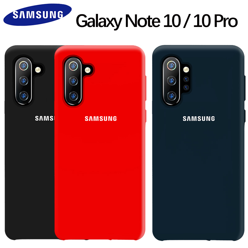SAMSUNG Note 10 Case Original Official Liquid Silicone Soft Protective Back Cover SAMSUNG Galaxy Note 10 Pro Case Silicon Fundas