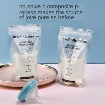 BN Pieces 210ml Milk Freezer Bags  Free ShippMother Baby Food Storage Breast Milk Storage Bag BPA Free Baby Safe Feeding Bags