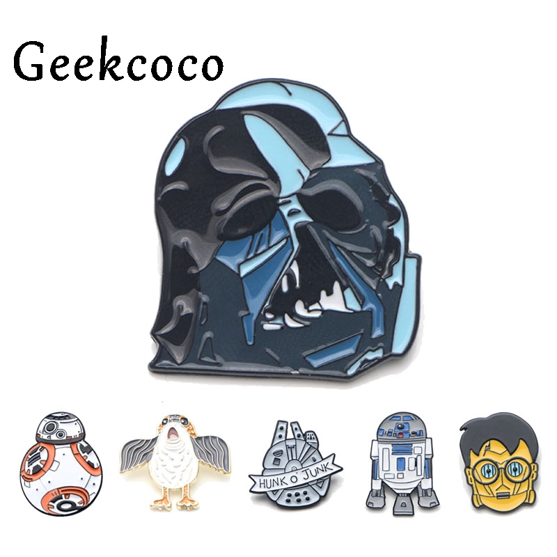 Movie characters Zinc Alloy Cartoon Pins for men women Shirt insignia Clothes backpack Accessory medal Badges Brooches J0075 in Brooches from Jewelry Accessories