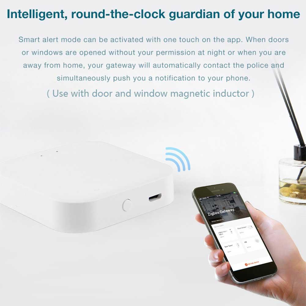 Control remoto Hub Led Gateway WiFi Bluetooth casa inteligente inalámbrica moda ABS Mini APP cerradura de puerta estable electrónica Sensor de movimiento 100% Aqara ZigBee, Sensor de cuerpo humano, conexión inalámbrica de seguridad con movimiento, entrada de luz de intensidad 2 Mi, aplicación para hogares