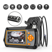 Endoscope-Camera Car-Sewer-Inspection Dual-Lens LED 1080P with IPS LCD HD for TF 32GB